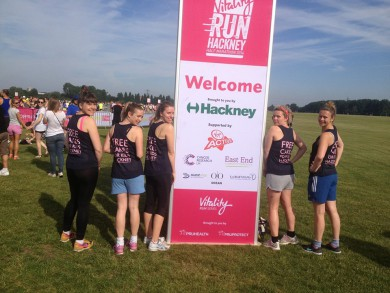 FCFK - Run Hackney sign