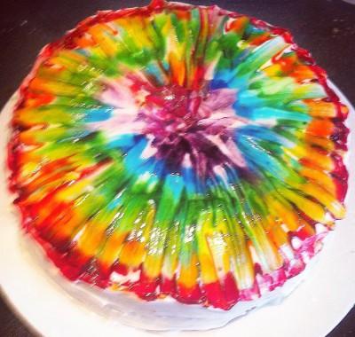 FCFK - tie dye cake