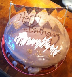 FCFK - bunting iced cake