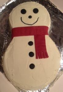 FCFK - cheeky snowman cake