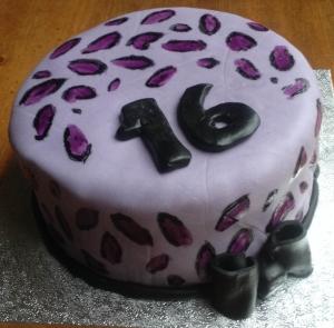 FCFK - leopard print cake